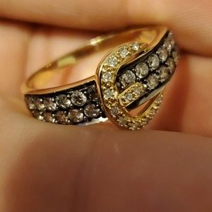 14kt Gold And Diamonds Levian Ring 8